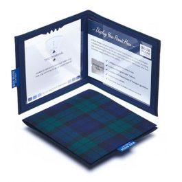 Blackwatch tartan blue badge holder