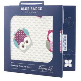 Owl blue badge holder