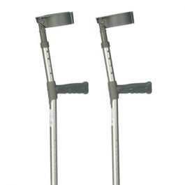 Double adjustable forearm crutches