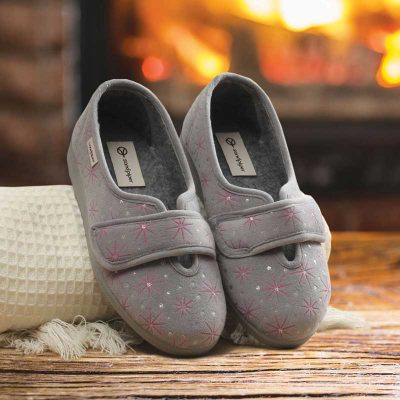 Ladies Extra Wide Slippers