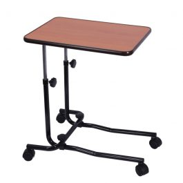 Overbed chair table 4 castors