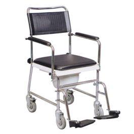Wheeled commode