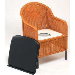 Bedroom wicker commode chair