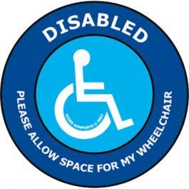 Wheelchair car window sticker